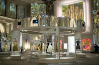"""Designs by Christian Dior on display at the """"Designer of Dreams"""" exhibition at the Brooklyn Museum in New York, on September 7, 2021 (AFP/Angela Weiss)"""