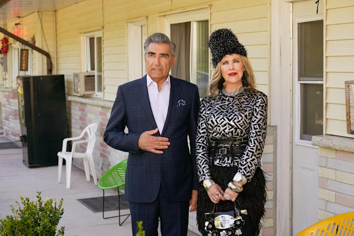 """Eugene Levy and Catherine O'Hara in a scene from """"Schitt's Creek."""""""