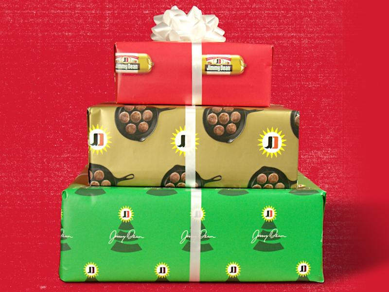 Jimmy Dean wants You to Gift a Sausage Candy Cane in Sausage Wrapping Paper