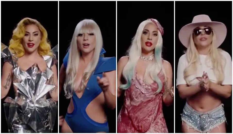 Lady Gaga revisits some of her most iconic looks (Photo: Twitter/Lady Gaga)