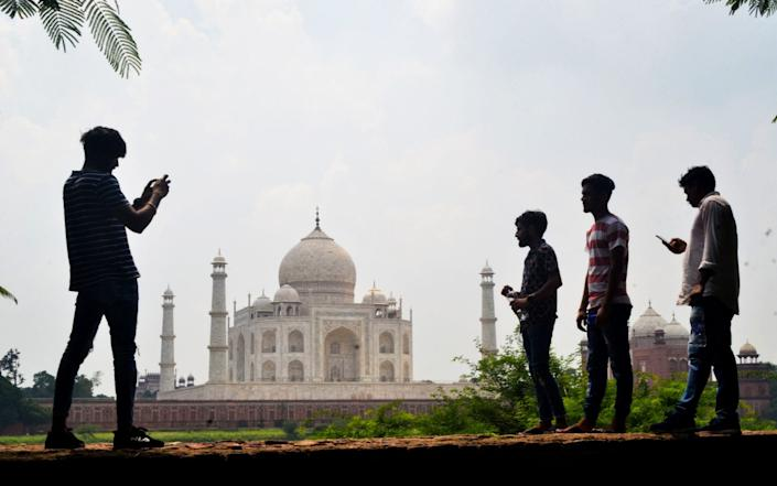 India's top tourist attraction, the Taj Mahal, is set to reopen more than six months after it was shut - PAWAN SHARMA/AFP