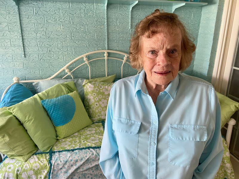 Pat Cowan, chairwoman of the Hockley County Republican Party, poses for a photo in her house in Levelland, Texas