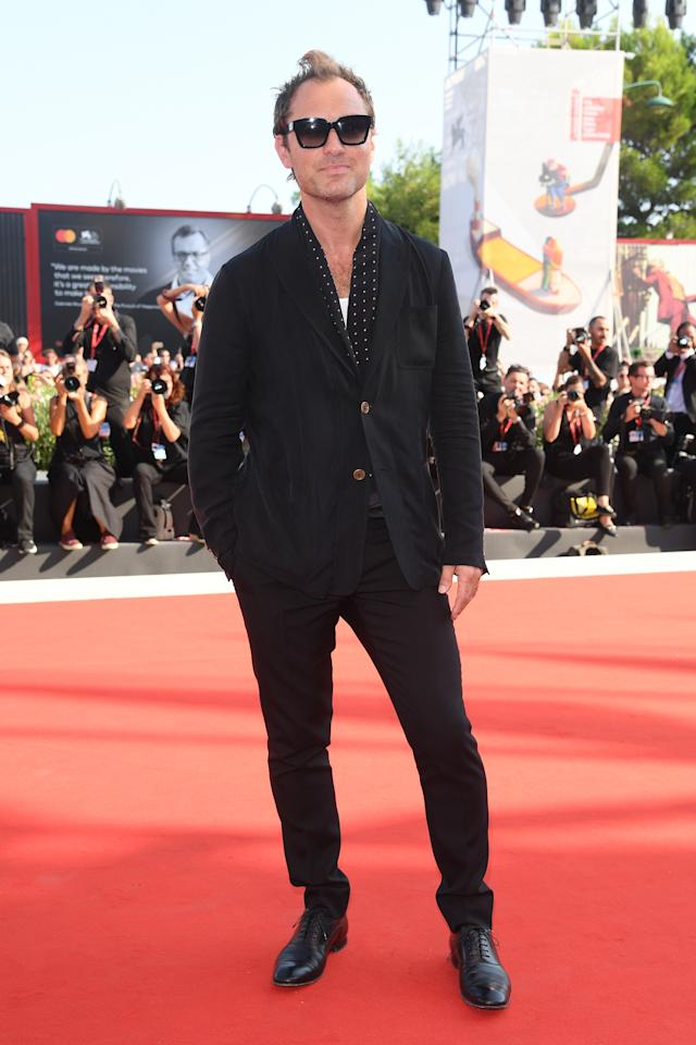 """Jude Law walks the red carpet ahead of """"The New Pope"""" screening during the 76th Venice Film Festival at Sala Grande on September 1, 2019 in Venice, Italy. Photo courtesy of Getty Images."""