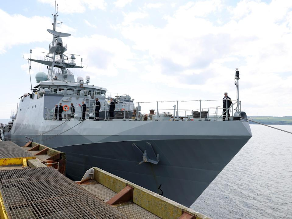 The HMS Spey is one of the ships to be deployed to the region later this year (EPA)