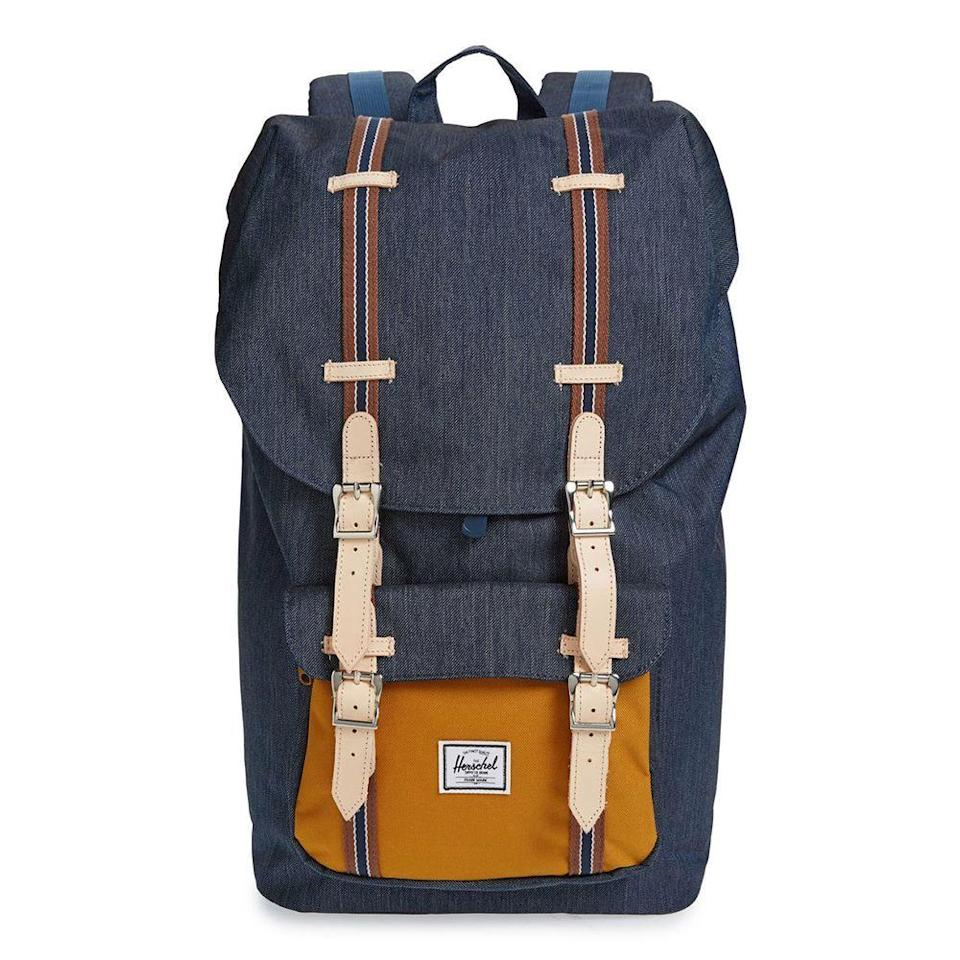 """<p><strong>HERSCHEL SUPPLY CO.</strong></p><p>nordstrom.com</p><p><a href=""""https://go.redirectingat.com?id=74968X1596630&url=https%3A%2F%2Fshop.nordstrom.com%2Fs%2Fherschel-supply-co-little-america-offset-backpack%2F5458010&sref=https%3A%2F%2Fwww.menshealth.com%2Fstyle%2Fg33510339%2Fnordstrom-anniversary-sale-2020%2F"""" rel=""""nofollow noopener"""" target=""""_blank"""" data-ylk=""""slk:BUY IT HERE"""" class=""""link rapid-noclick-resp"""">BUY IT HERE</a></p><p><strong><del>$120</del></strong> <strong>$69.90 (42% off)</strong></p><p>This stylish backpack will carry your laptop and weekend gear for any upcoming adventure, without making you look like a kid heading back to school. </p>"""
