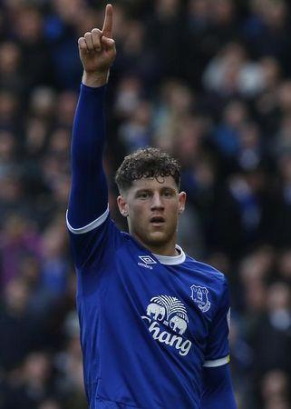 Britain Soccer Football - Everton v Burnley - Premier League - Goodison Park - 15/4/17 Everton's Ross Barkley celebrates after Burnley's Ben Mee scores an own goal and the second goal for Everton Reuters / Andrew Yates Livepic