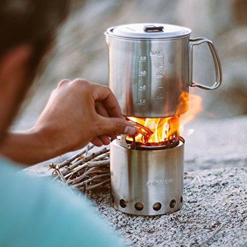 """<p><strong>Solo Stove</strong></p><p>amazon.com</p><p><strong>$139.99</strong></p><p><a href=""""https://www.amazon.com/dp/B008W0MJJU?tag=syn-yahoo-20&ascsubtag=%5Bartid%7C2164.g.36556929%5Bsrc%7Cyahoo-us"""" rel=""""nofollow noopener"""" target=""""_blank"""" data-ylk=""""slk:Shop Now"""" class=""""link rapid-noclick-resp"""">Shop Now</a></p><p>This space-saving wood-fueled device comes with a pot so you can easily cook simple meals like mac and cheese. Thanks to an efficient design, it requires less wood than a campfire. </p>"""