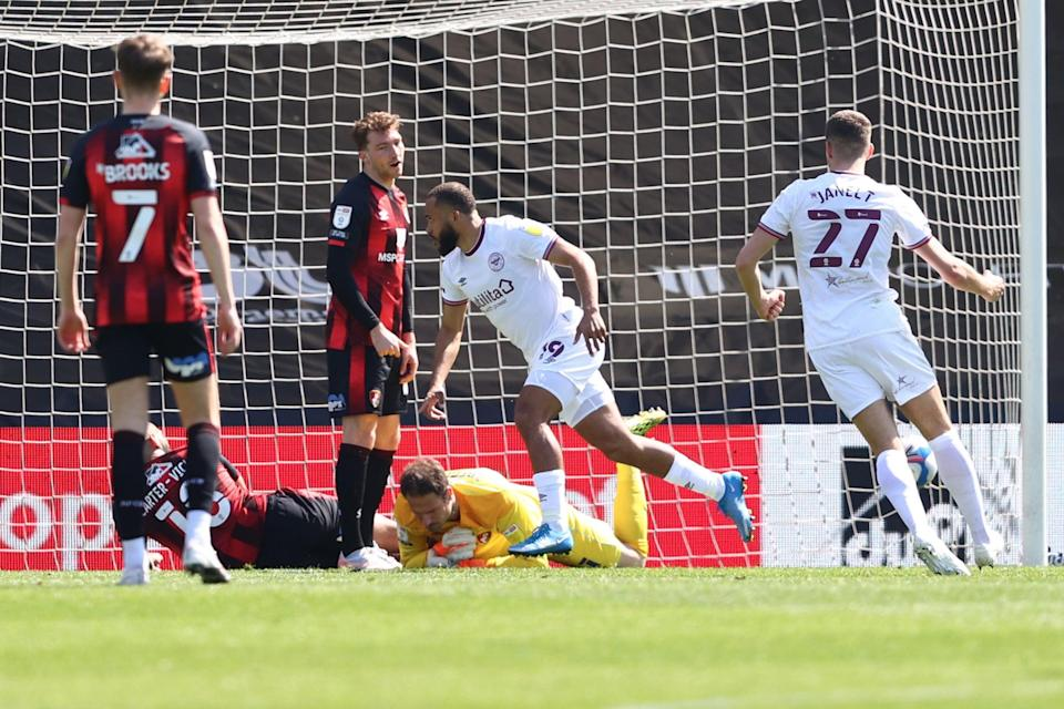 10-man Brentford beat Bournemouth last month to seal their play-off placeGetty Images