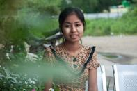 Wai Wai Tun, 19, a Rakhine history student, can vote, but her family back home has been disenfranchised