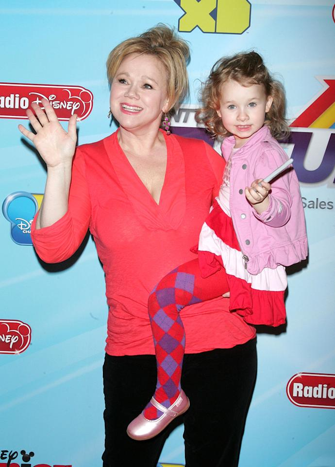 "Caroline Rhea (""<a href=""http://tv.yahoo.com/phineas-and-ferb/show/40205"">Phineas and Ferb</a>"") and daughter Ava attend the 2012-13 Disney Channel Worldwide Kids Upfront event at the Hard  Rock Cafe: Times Square on March 13, 2012 in New York City."