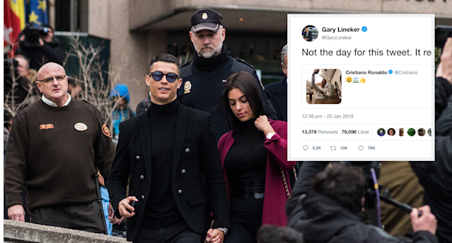 Gary Lineker has slated Cristiano Ronaldo after the superstar's poorly-timed tweet