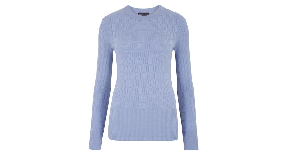 Soft Touch Brick Stitch Crew Neck Jumper