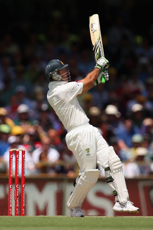 PERTH, AUSTRALIA - DECEMBER 01:  Ricky Ponting of Australia bats during day two of the Third Test Match between Australia and South Africa at the WACA on December 1, 2012 in Perth, Australia.  (Photo by Cameron Spencer/Getty Images)