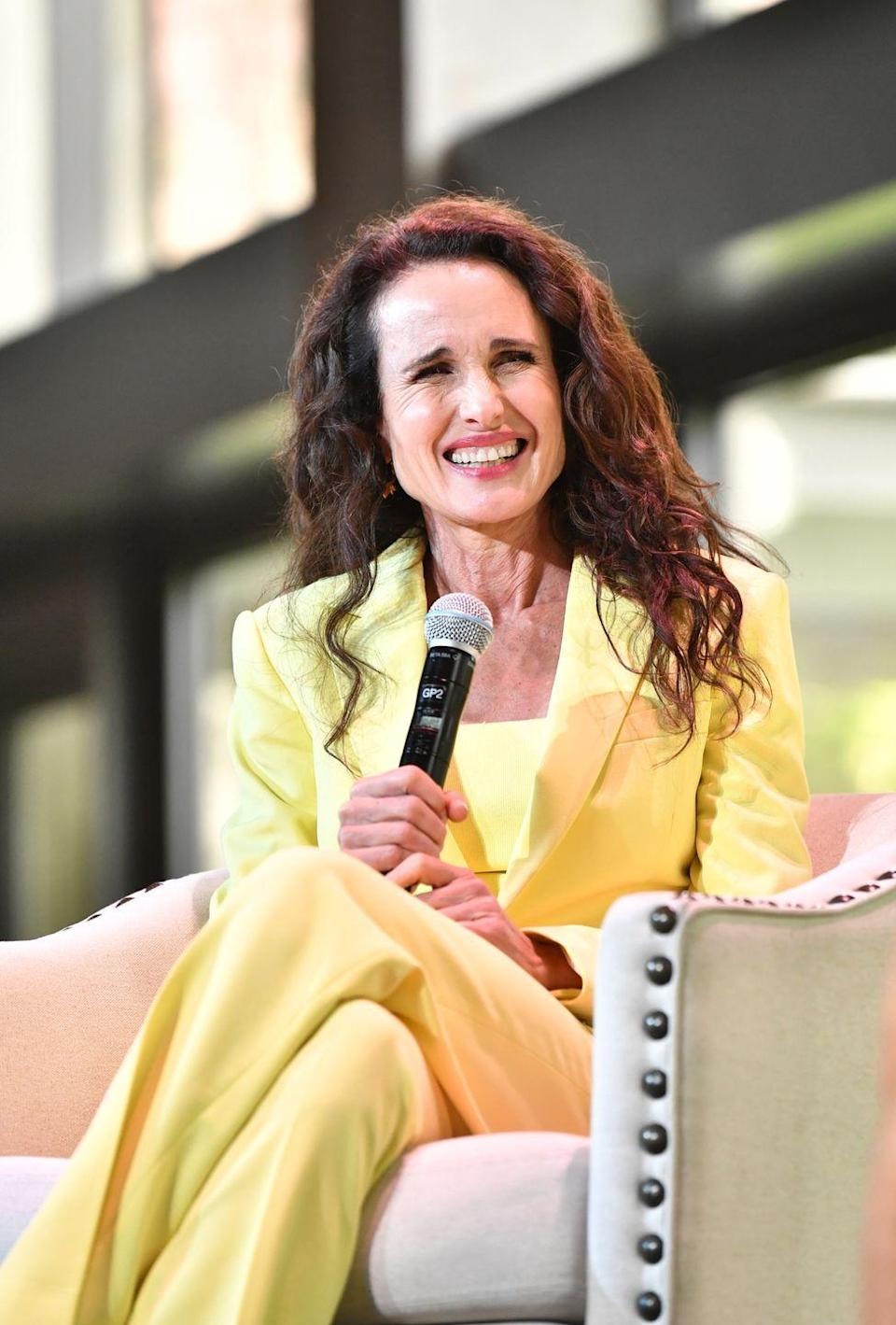 "<p>Post-<em>Groundhog Day</em>, Andie MacDowell co-starred with Hugh Grant in <em><a href=""https://www.amazon.com/Four-Weddings-Funeral-Hugh-Grant/dp/B0032KSXRW?tag=syn-yahoo-20&ascsubtag=%5Bartid%7C2164.g.35217692%5Bsrc%7Cyahoo-us"" rel=""nofollow noopener"" target=""_blank"" data-ylk=""slk:Four Weddings and a Funeral"" class=""link rapid-noclick-resp"">Four Weddings and a Funeral </a></em>and transitioned to the small screen for series like<em> Jane by Design </em>and<em> Cedar Cove. </em>The 62-year-old has also served as a spokeswoman for L'Oréal for more the 30 years! </p>"