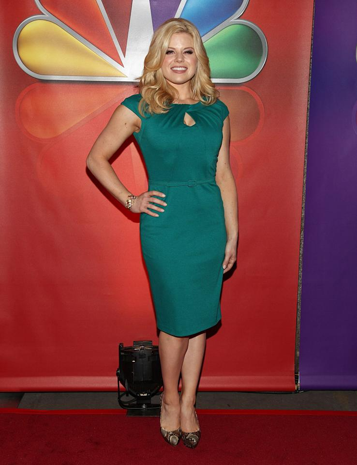 "Megan Hilty (""Smash"") attends NBC's 2012 Upfront Presentation at 51st Street on May 14, 2012 in New York City."