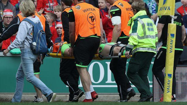 Horne received treatment before being taken to hospital. Image: Getty