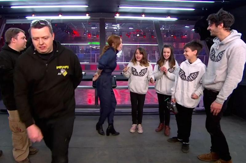 Unimpressed: Ant from Team Behemoth stormed off without congratulating the winners (BBC)