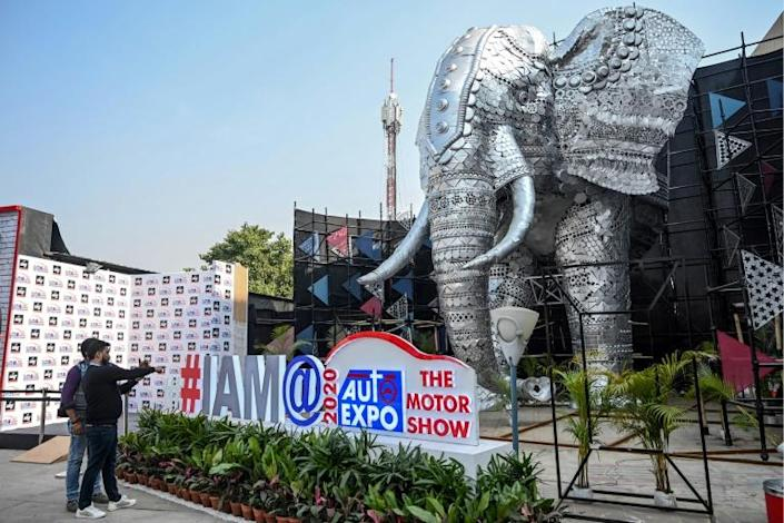 Organisers of the Auto Expo 2020 on the outskirts of New Delhi said the scores of Chinese stalls would instead be manned by their Indian employees and representatives (AFP Photo/Money SHARMA)