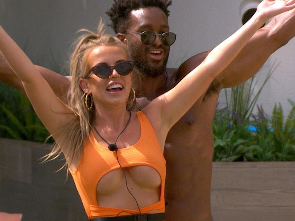 (Faye and Teddy from Love Island)