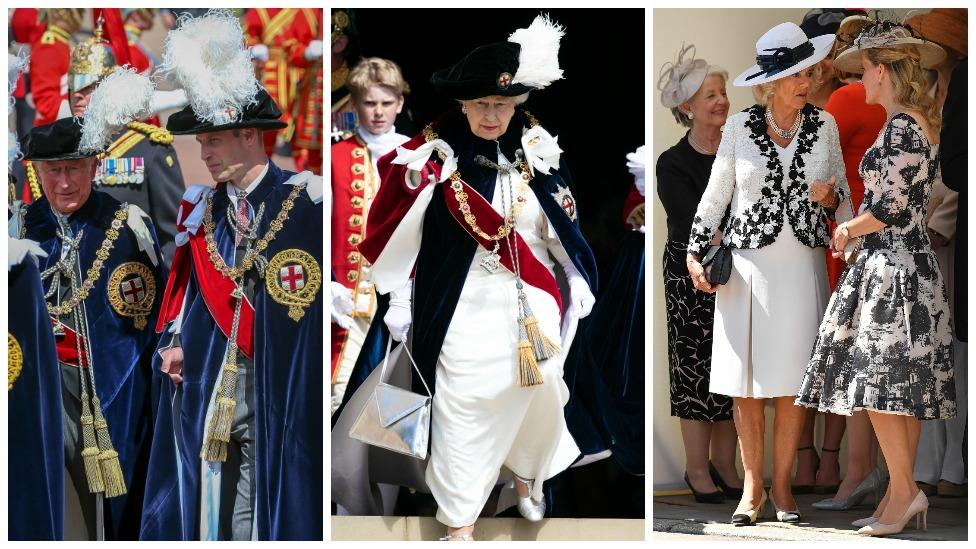 <p>The Queen was joined by her spruced up family on the day Photo: Getty Images </p>