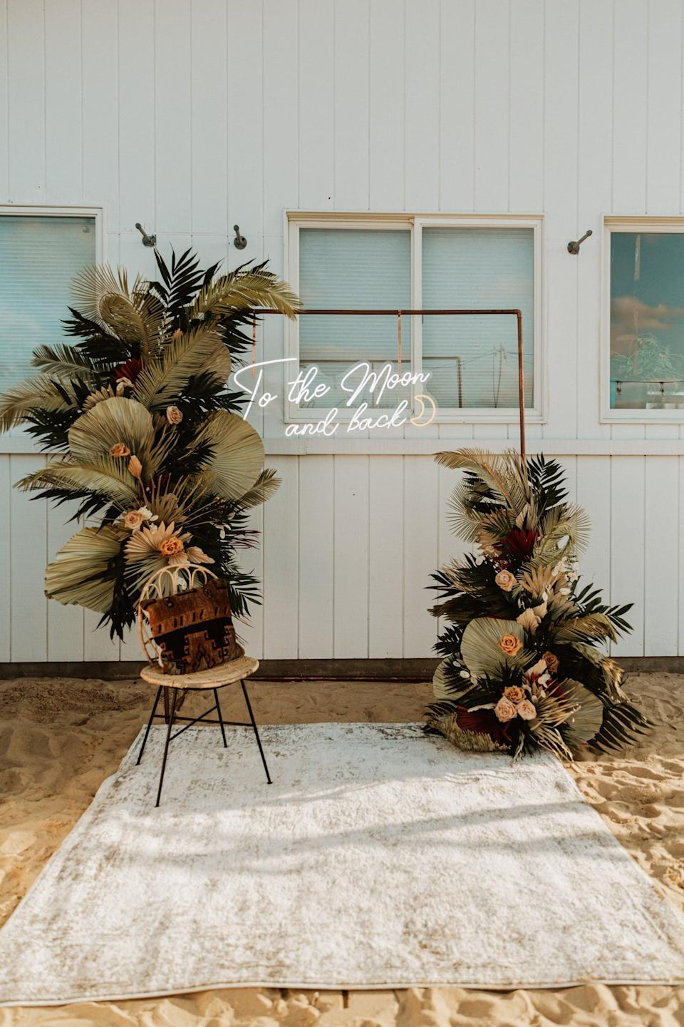 <p>If she's a fan of sand in her toes and salt water in her hair, she won't be able to resist a beachy boho bridal party. You can incorporate palm fronds, beach towels, coconuts, and more. </p>