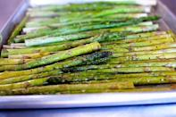 "<p>This is an easy side vegetable to have in your repertoire. All you need is a bunch of fresh asparagus! Pair it with roast beef, ham, or even eggs for a delicious Easter meal.</p><p><strong><a href=""https://www.thepioneerwoman.com/food-cooking/recipes/a11484/oven-roasted-asparagus/"" rel=""nofollow noopener"" target=""_blank"" data-ylk=""slk:Get the recipe."" class=""link rapid-noclick-resp"">Get the recipe.</a></strong></p><p><strong><a class=""link rapid-noclick-resp"" href=""https://go.redirectingat.com?id=74968X1596630&url=https%3A%2F%2Fwww.walmart.com%2Fsearch%2F%3Fquery%3Dbaking%2Bsheet&sref=https%3A%2F%2Fwww.thepioneerwoman.com%2Ffood-cooking%2Fmeals-menus%2Fg35256361%2Feaster-side-dishes%2F"" rel=""nofollow noopener"" target=""_blank"" data-ylk=""slk:SHOP BAKING SHEETS"">SHOP BAKING SHEETS</a><br></strong></p>"