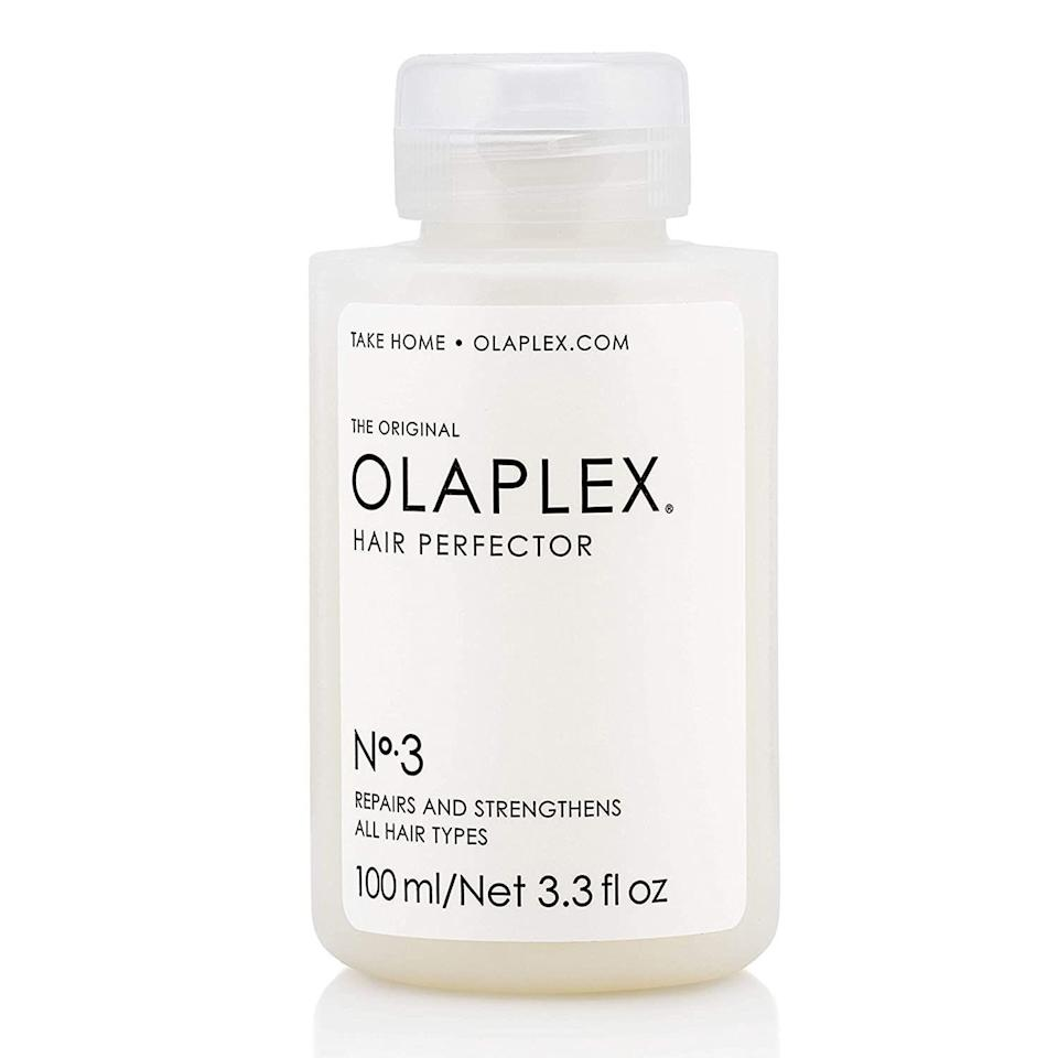 """<p><strong>Olaplex</strong></p><p><strong>$28.00</strong></p><p><a href=""""https://www.amazon.com/dp/B00SNM5US4?th=1&tag=syn-yahoo-20&ascsubtag=%5Bartid%7C2089.g.3486%5Bsrc%7Cyahoo-us"""" rel=""""nofollow noopener"""" target=""""_blank"""" data-ylk=""""slk:Shop Now"""" class=""""link rapid-noclick-resp"""">Shop Now</a></p><p>Thankfully, you <em>can</em> repair dry, over-bleached hair. This formula helps restore damaged strands, moisturizing and smoothing dry hair. By helping restore moisture to your 'do, it also protects your hair from future damage. It has more than 60,000 five-star reviews, and many swear by it after bleach or color jobs gone wrong.</p>"""