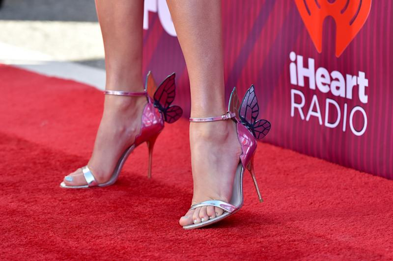 A closer look at the details on Swift's Sophia Webster heels. (Getty Editorial)