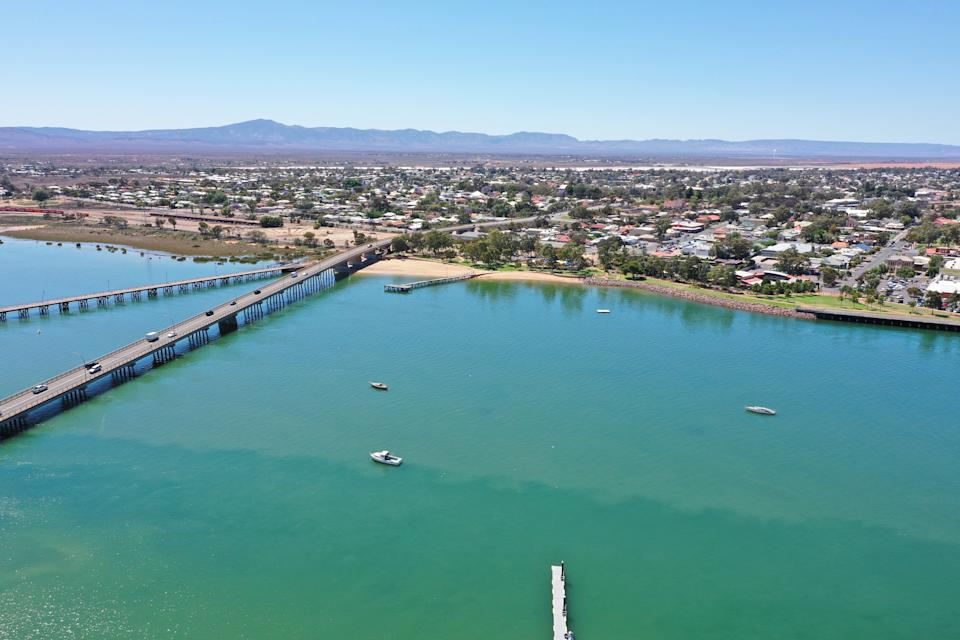 aerial image of Port Augusta, South Australia.