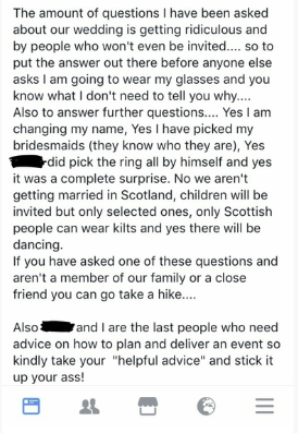 The Facebook thread was later circulated on Mumsnet. [Photo: Facebook/Mumsnet]