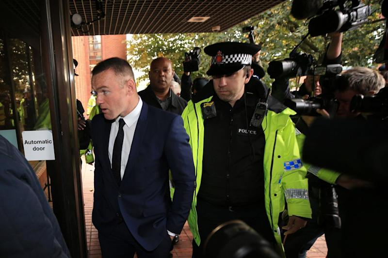 Offence: Rooney appearing at court (Peter Byrne/PA)