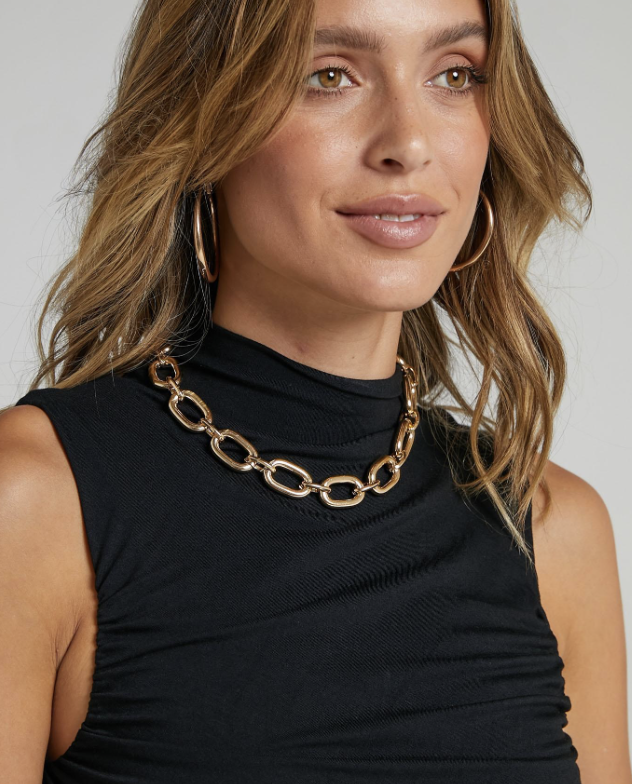 Brenna Necklace in gold from Shop.