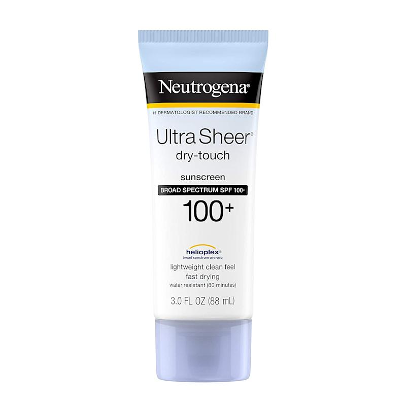 Neutrogena Ultra Sheer Dry-Touch Sunscreen SPF 100 (Photo: Amazon)