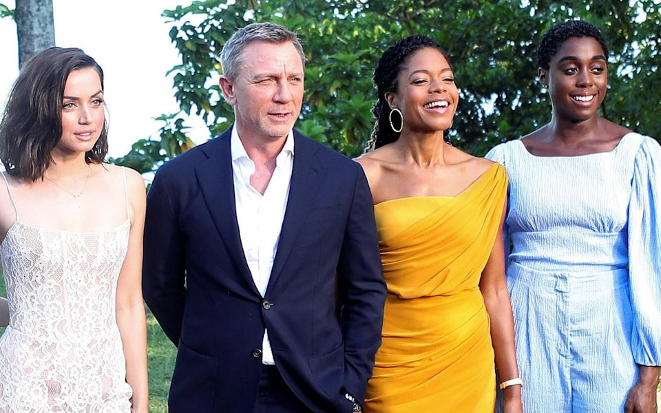 Ms Harris with Daniel Craig - Gilbert Bellamy/Reuters