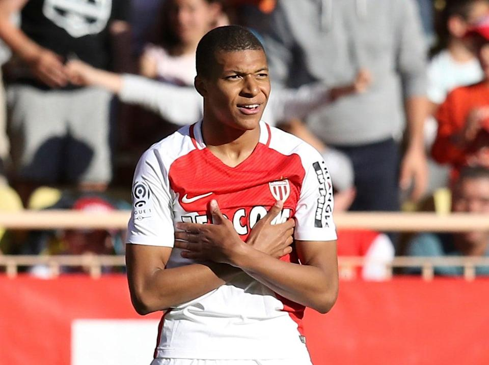 Kylian Mbappe during his time at Monaco (AFP via Getty Images)