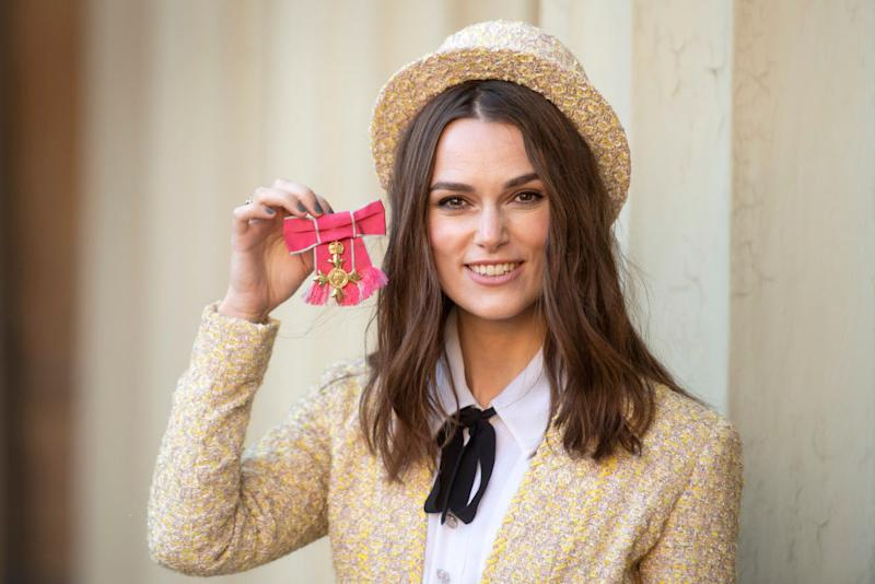 Keira Knightley feared OBE letter was from taxman