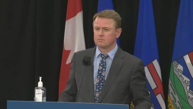 Health Minister Tyler Shandro says Bill 65, which would amend six laws, would make the province's health system more transparent and efficient. (CBC - image credit)