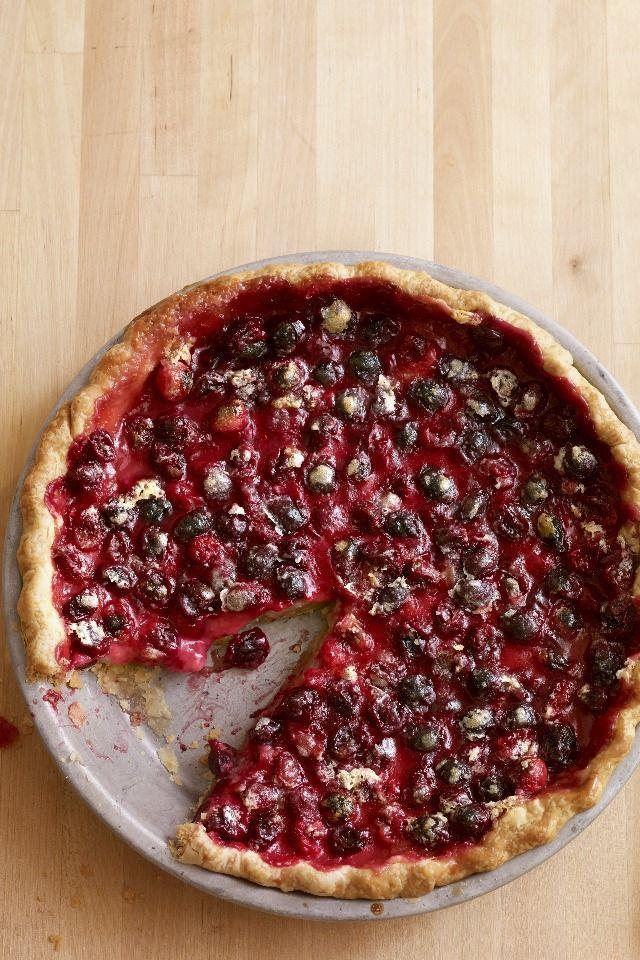 """<p>Transform boring cranberry sauce into a delectable pie that no one can pass up.</p><p><strong><a href=""""https://www.countryliving.com/food-drinks/recipes/a3485/cranberry-pie-recipe-clv1110/"""" rel=""""nofollow noopener"""" target=""""_blank"""" data-ylk=""""slk:Get the recipe"""" class=""""link rapid-noclick-resp"""">Get the recipe</a>.</strong></p>"""