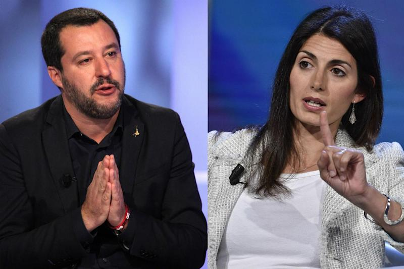 Salvini e l'ironia su Virginia Raggi