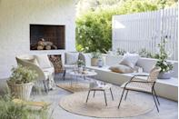 """<p>A sure-fire way to brighten up your outdoor area, <a href=""""https://www.housebeautiful.com/uk/garden/g32728371/outdoor-rugs/"""" rel=""""nofollow noopener"""" target=""""_blank"""" data-ylk=""""slk:garden rugs"""" class=""""link rapid-noclick-resp"""">garden rugs</a> provide a cosy feel underfoot, especially on hard floors and patios. We love this jute rug from John Lewis, which adds a real rustic touch. But don't be afraid to invest in a bold, patterned or colourful rug either; it will bring some personality to your outdoor space. </p><p>'Outdoor rugs are being used to extend the living space beyond the house,' says Daniel Prendergast, Design Director at <a href=""""https://go.redirectingat.com?id=127X1599956&url=https%3A%2F%2Fwww.therugseller.co.uk%2F&sref=https%3A%2F%2Fwww.housebeautiful.com%2Fuk%2Fgarden%2Fg36276312%2Finstagrammable-garden%2F"""" rel=""""nofollow noopener"""" target=""""_blank"""" data-ylk=""""slk:therugseller.co.uk"""" class=""""link rapid-noclick-resp"""">therugseller.co.uk</a>. 'Outdoor rugs are also quite practical – bringing less dirt indoors from underfoot and covering """"imperfect"""" grass and patios.'</p><p>Pictured: Jute rug, £100, John Lewis</p><p><a class=""""link rapid-noclick-resp"""" href=""""https://www.housebeautiful.com/uk/garden/g32728371/outdoor-rugs/"""" rel=""""nofollow noopener"""" target=""""_blank"""" data-ylk=""""slk:READ MORE: THE BEST OUTDOOR RUGS"""">READ MORE: THE BEST OUTDOOR RUGS</a></p>"""