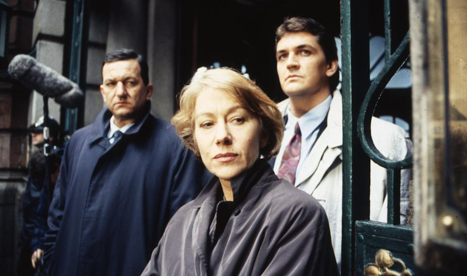 Helen Mirren (as DCI Jane Tennison), John Benfield (as DSI Michael Kernan) and Craig Fairbrass (as DI Frank Burkin) in Prime Suspect. (Photo: ITV/Shutterstock)