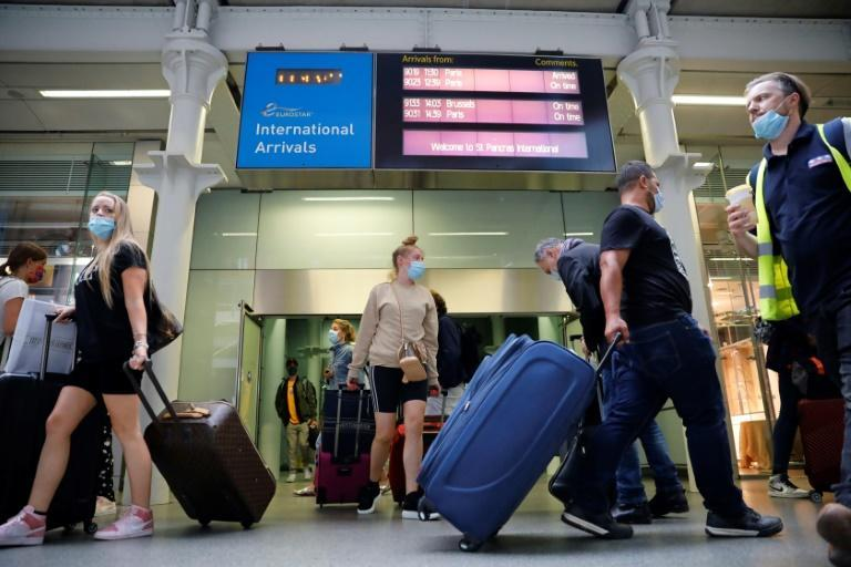 Many Britons were rushing back from France and the Netherlands before the quarantine restrictions go into force on Saturday