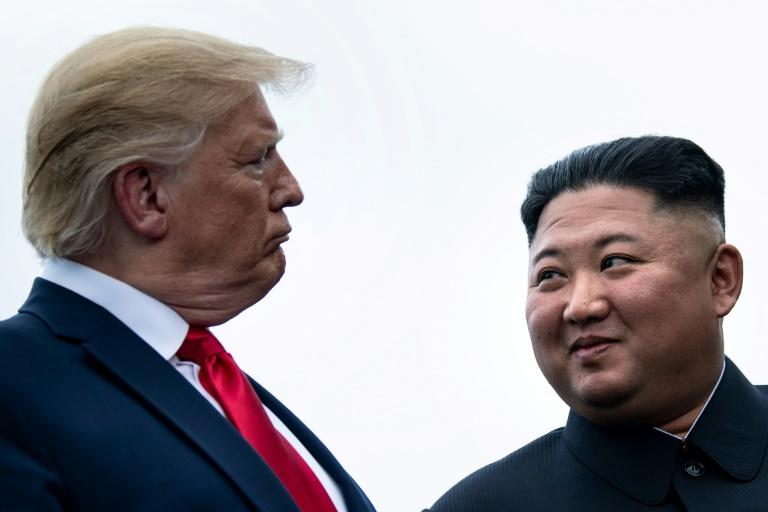 US President Donald Trump has met three times with North Korean leader Kim Jong Un to discuss Pyongyang's nuclear program (AFP Photo/Brendan Smialowski)