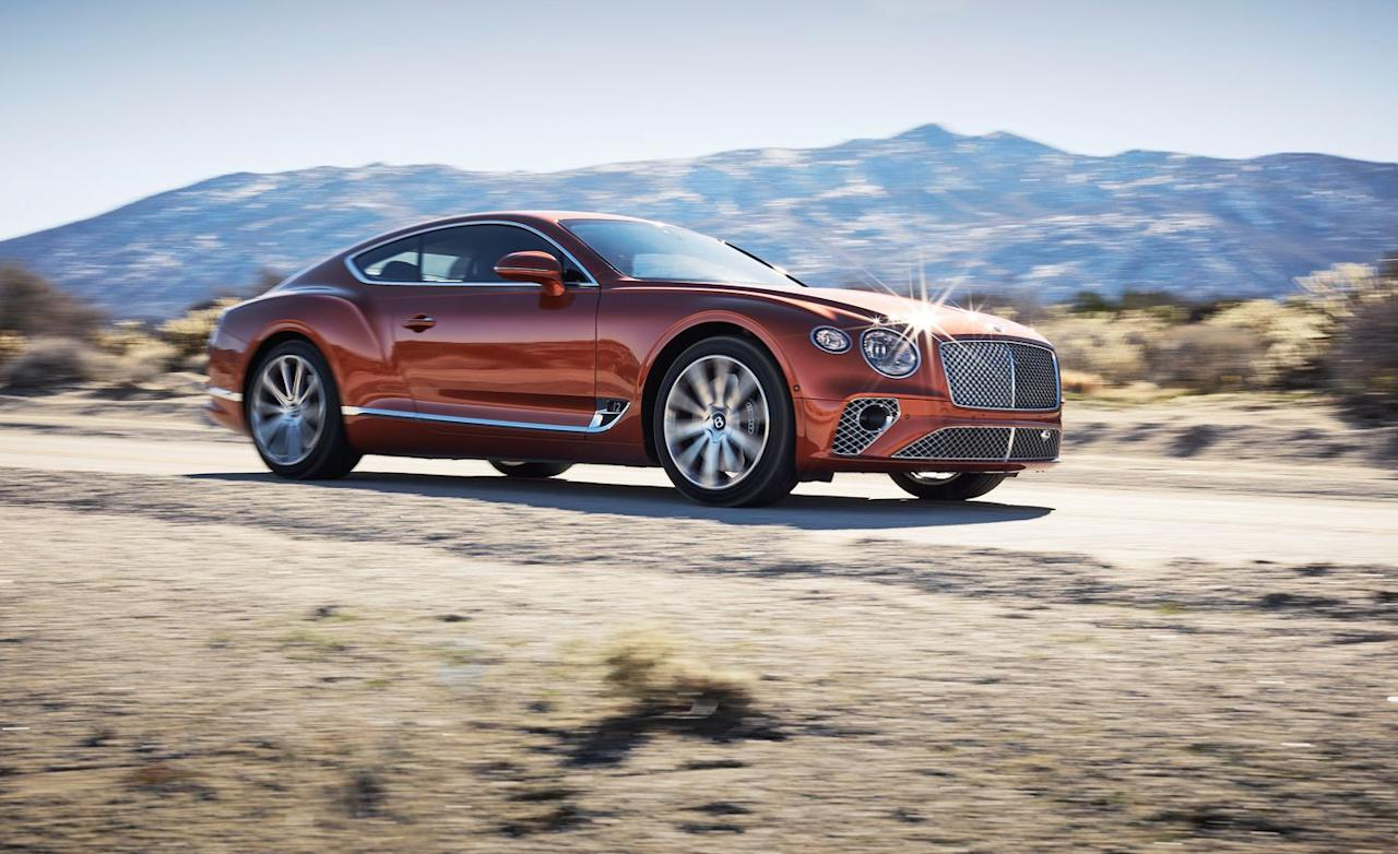 <p>There's no reason to doubt that claim, though; the twin-turbo 6.0-liter in the new Conti GT is the latest evolution of the brand's W-12, and its 626 horsepower and 664 pound-feet of torque better the last gen's base W-12 by 44 horses and 133 pound-feet. At our relatively short testing venue in California, the GT repeatedly crested 160 mph without drama. And its brakes, with front calipers that appear to be structural elements from a train trestle, hauled it down again and again without ever hinting at fade.</p>