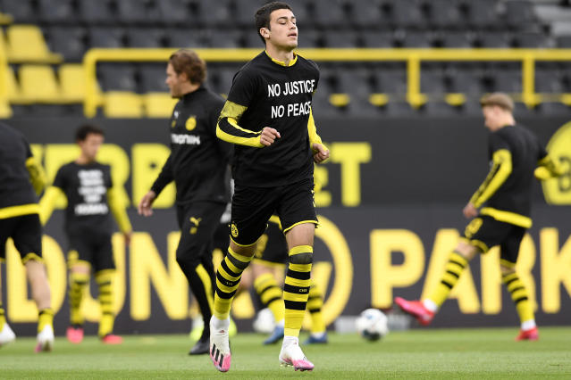 American midfielder Giovanni Reyna is among the growing list of Bundesliga players speaking out against systemic racism and police brutality following the killing of George Floyd in the United States. (Alexandre Simoes/Getty Images)