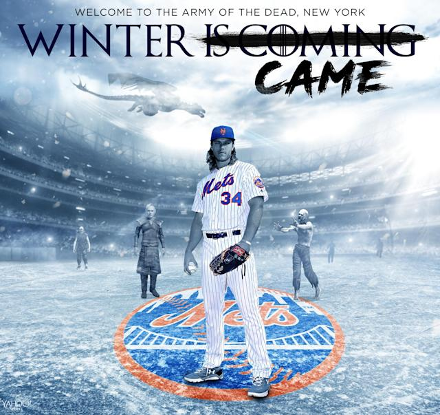 Winter Came for the New York Mets. (Amber Matsuomoto / Yahoo Sports)