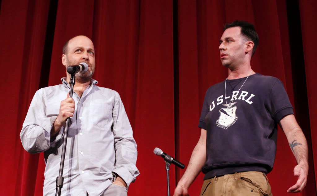 "Cast members H. John Benjamin and John Roberts perform during ""Bob's Burgers Live!""  at the WIlshire Ebell Theatre on Tuesday, May 7 in Los Angeles, CA."