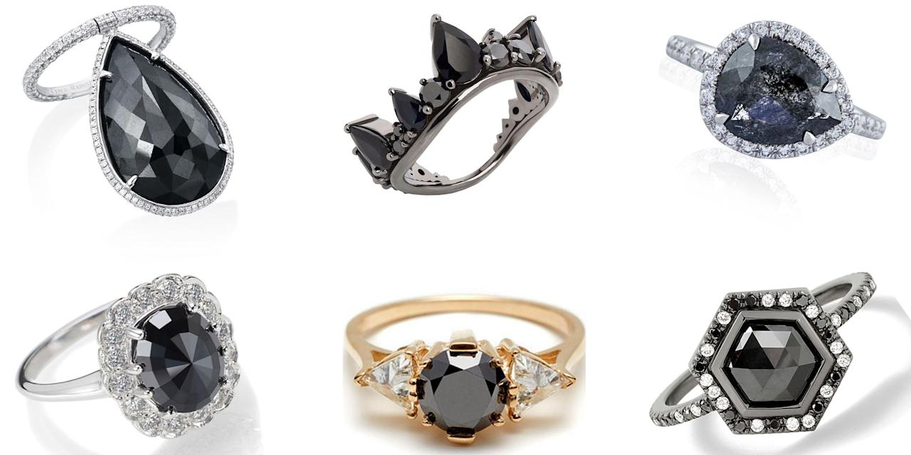 Black Diamond Rings Are The Carrie Bradshaw Of Engagement Rings