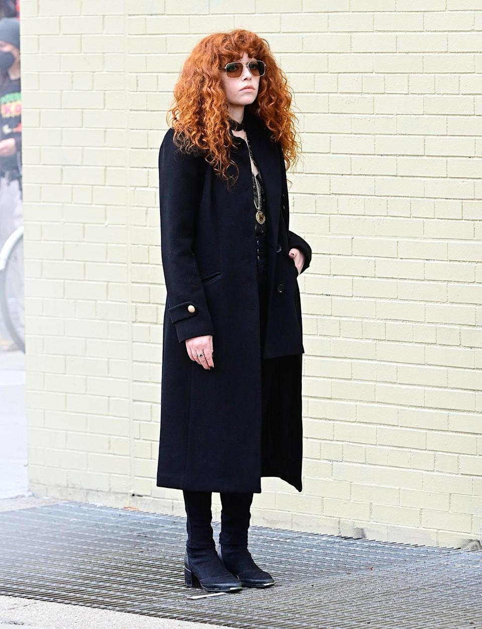 <p>Natasha Lyonne is spotted in N.Y.C.'s Soho neighborhood on Thursday.</p>