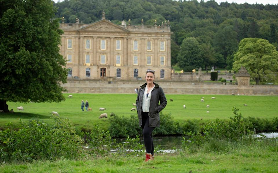 Writer Jessica Salter walking in the grounds of Chatsworth House in Derbyshire - Andrew Fox
